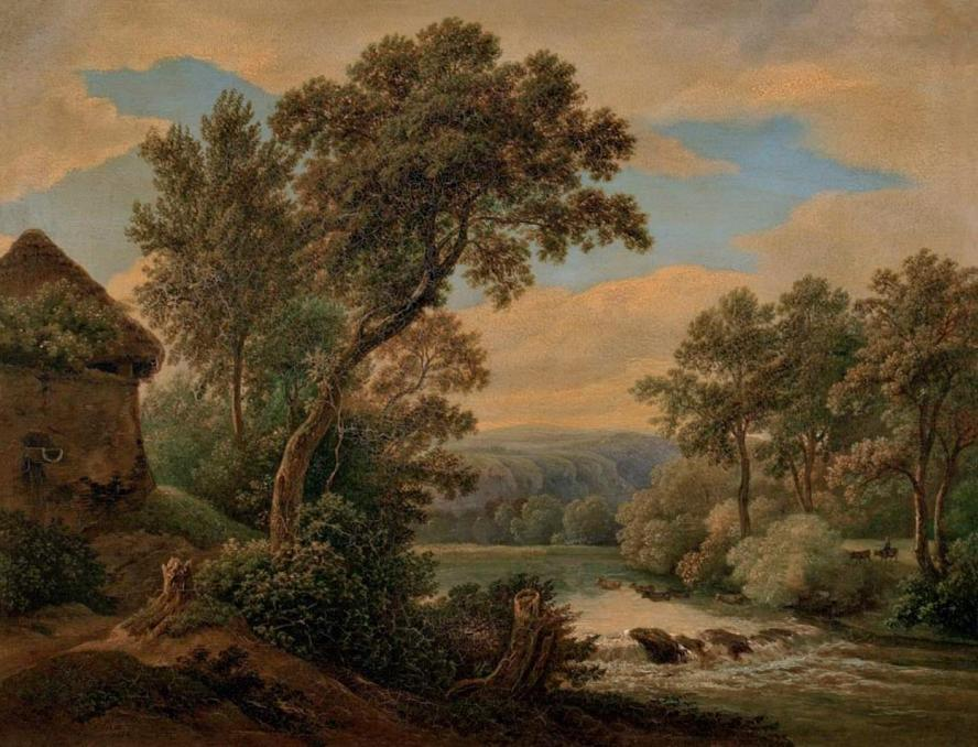 Antonín Mánes / Landscape with River