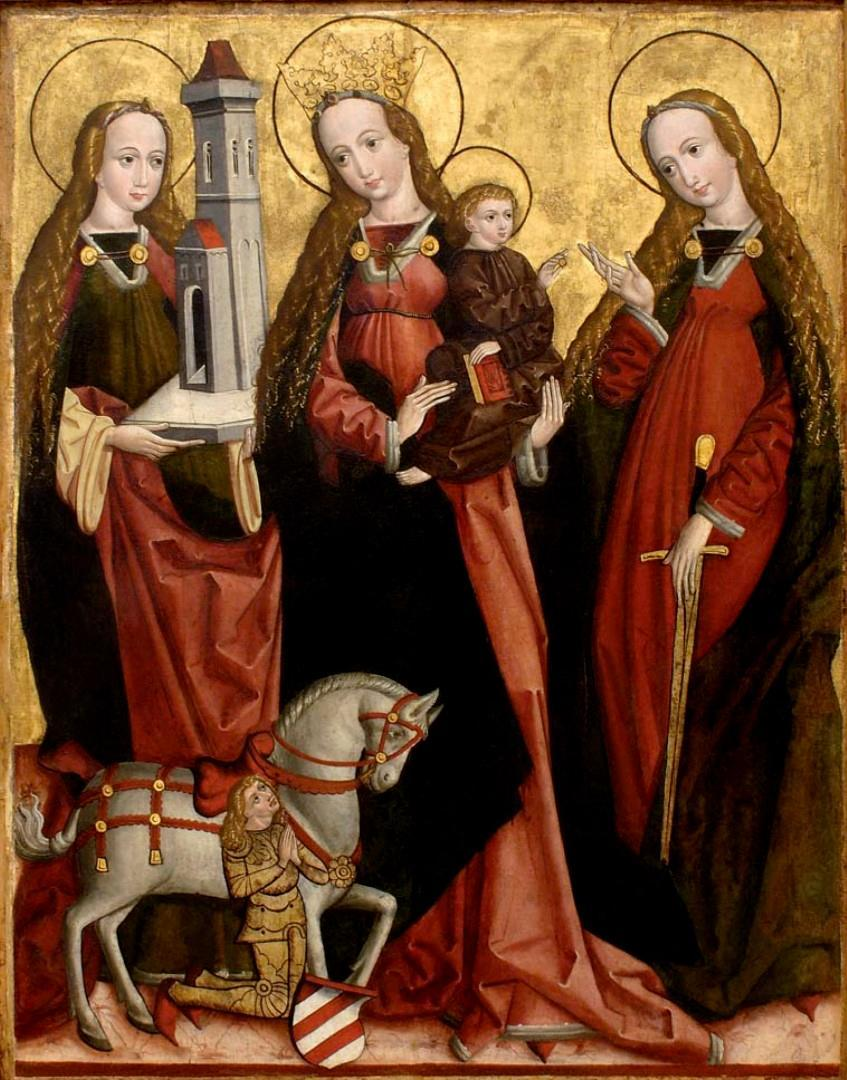 The Hradec Králové Master / The Virgin Mary with SS Barbara and Catherine
